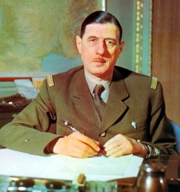Charles De Gaulle, in February 1943