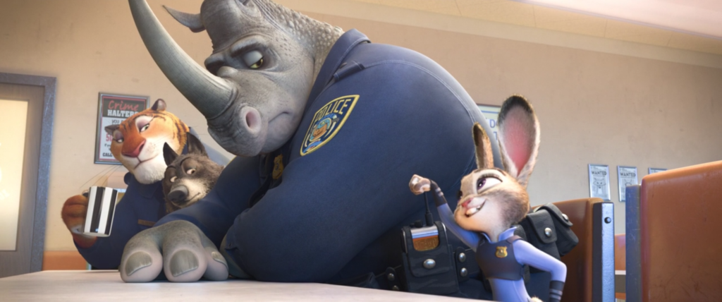 Officer McHorn soon humors the affirmative-action hire with a slow, unenthusiastic fist bump