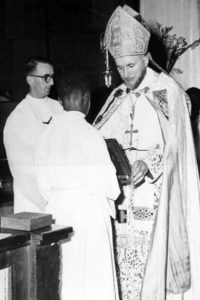 Archbishop Marcel Lefebvre, founder of the SSPX, saying Mass at his Mission in Gabon
