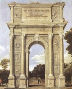 domenichino_-_a_triumphal_arch_of_allegories_-_wga06409