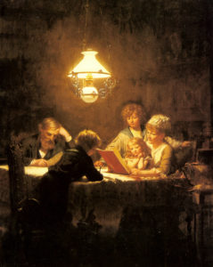 Knut Ekvall (1843-1912) The Reading Lesson